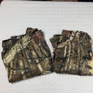 Russell Mossy Oak Camo shorts